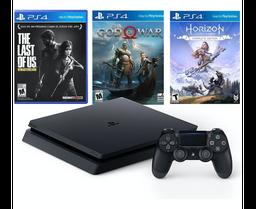 PlayStation4 - Consola Slim 1TB - 3 juegos