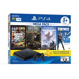 PlayStation4 - Consola Slim 1TB - Mega pack 1