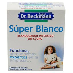 Blanqueador Dr. Beckmann Intensivo - Super Blanco 6 Bolsitas