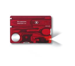 Navaja Swisscard Victorinox Roja Transparente