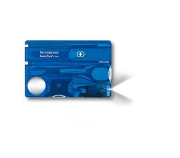 Navaja Swisscard Victorinox Azul Transparente