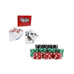 Baraja y fichas de poker