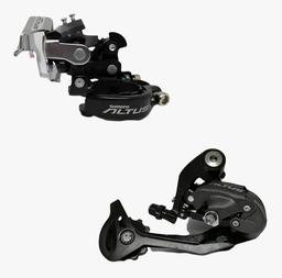 Combo Shimano Altus Tensor + Descarrilador 9 Velocidades