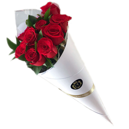 Roses in a Cone - Blanco