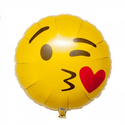 Globo metalizado Emoji beso