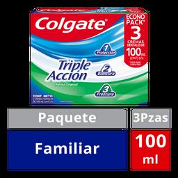 Colgate crema dental triple acción