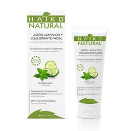 Jabón Limpiador y Equilibrante Facial Haiko Natural 80 g