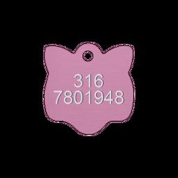 Placa Pequeña Para Gato-Rosada