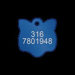 Placa Pequeña Para Gato-Azul