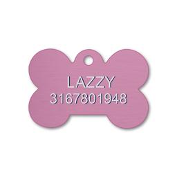 Placa Pequeña Para Perro-Rosada
