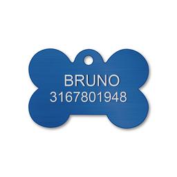 Placa Pequeña Para Perro-Azul