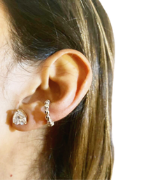 Filomena Ear Cuff Bolitas de Plata