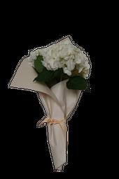 Hortensias Golpe de Agua Ramo de Colores Blancas