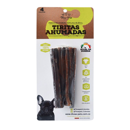 Three Pets Snack Tiritas Ahumadas Res Natural