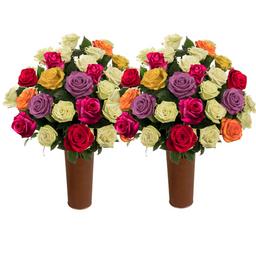 50 Rosas Surtidas de Exportación
