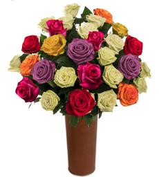 25 Rosas Surtidas de Exportación