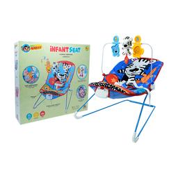 Baby Monkey Silla Vibradora Musical Para Bebé - Azul