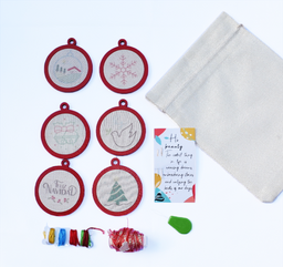 Una Cosita Shop Kit a Bordar Navidad