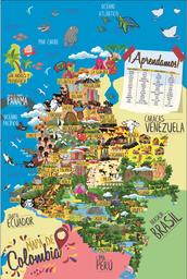 Toyng Rompecabezas Mapa de Colombia