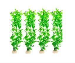 12 Plantas Artificiales Para Acuario Grande 30 Cm