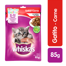 Whiskas Comida Húmeda Carne Gatito Sobre