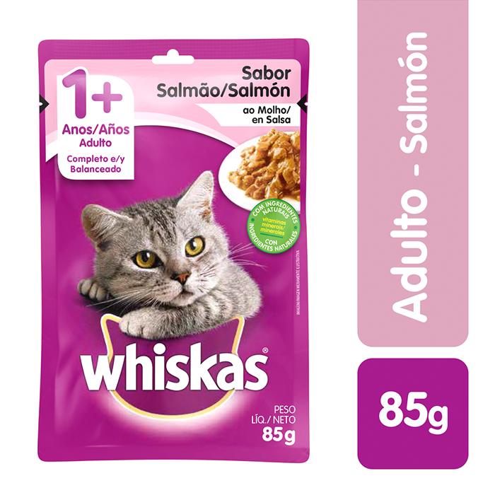 Whiskas Comida Húmeda Salmon Gato Sobre 85G