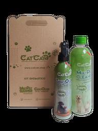 Catcan Kit Enzimático Cero Olores + Multipet Clean