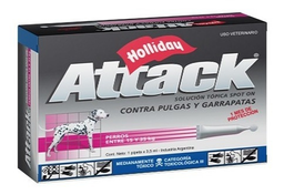 Holliday Antiparasitario Para Perro Attack 15 a 35 Kg 3.5 mL
