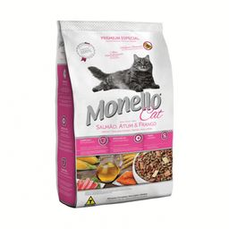 Monello Cat Alimento Para Gatos Salmón Atún Pollo 1 Kg